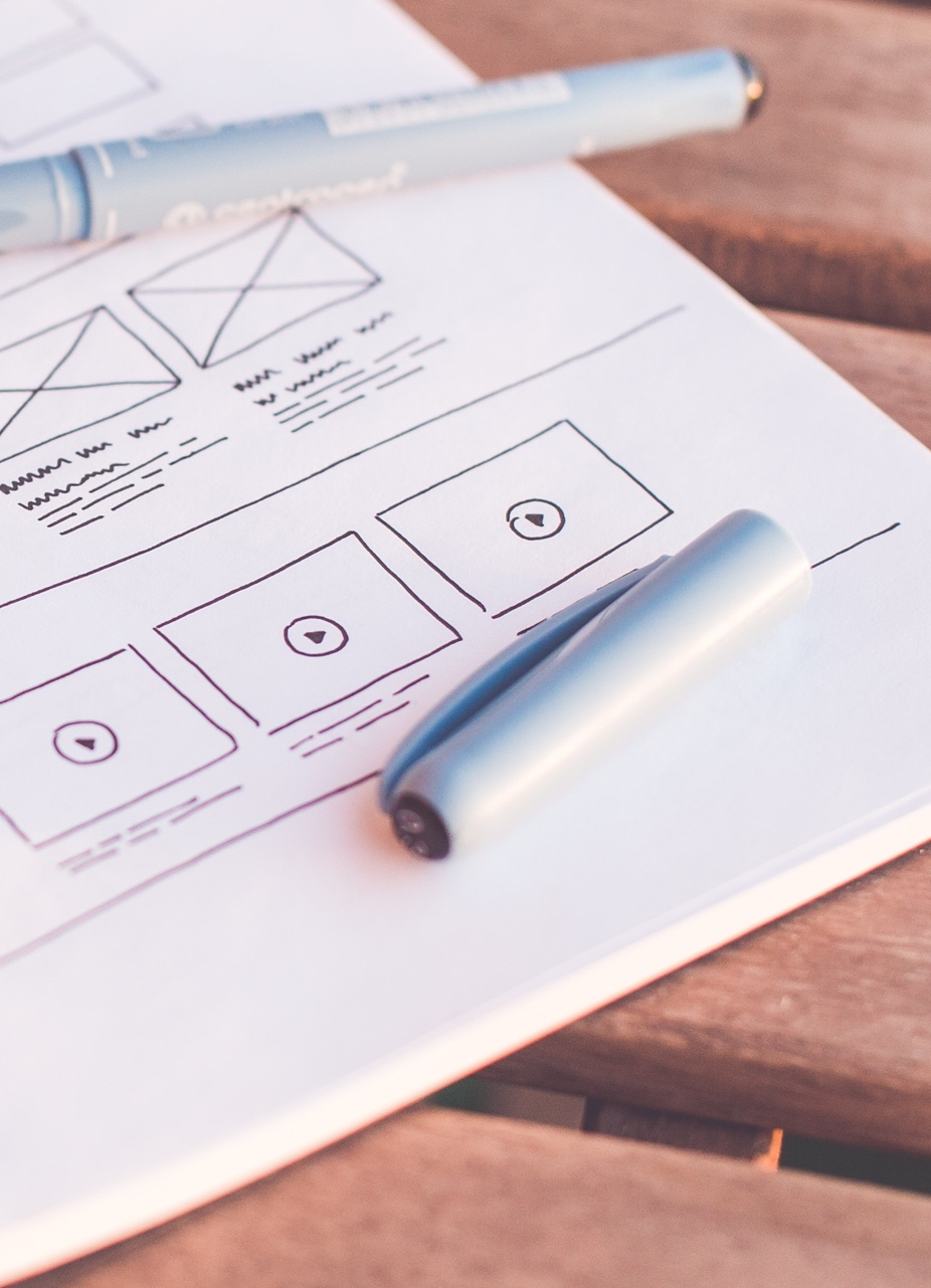 User Experience wireframes